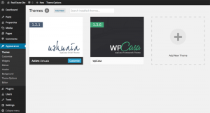 Screenshot: Themes Overview Page