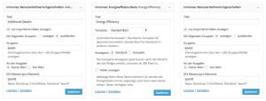 Screenshot: immonex-Widget-Konfiguration