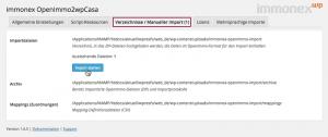 """Screenshot: Tab """"Verzeichnisse / Manueller Import"""""""
