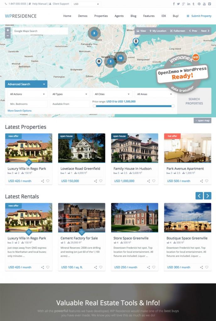 Screenshot: WP Residence WordPress Theme