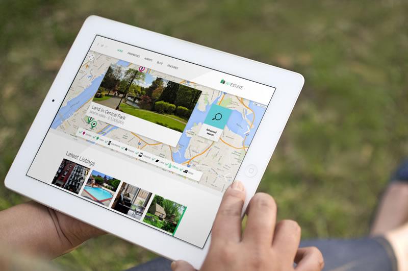 WP Estate WordPress Real Estate Theme on Tablet