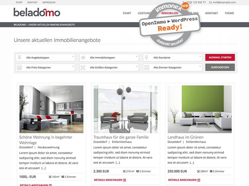 Screenshot: Beladomo WordPress Theme
