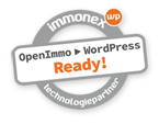 Badge: immonex Technologiepartner: OpenImmo > WordPress Ready!