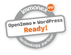 Badge: immonex Technology Partner - OpenImmo > WordPress Ready!