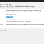 Screenshot: immonex OpenImmo2wpCasa Einstellungen