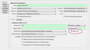 Screenshot: ImmoTool Export Dialog