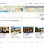 Screenshot: WP Residence Home Page (German Frontend)
