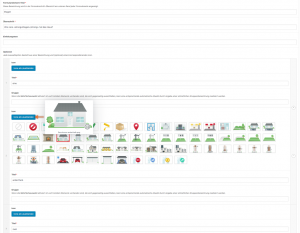 Screenshot: Bearbeitung eines Kartenauswahl-Elements im WP-Backend