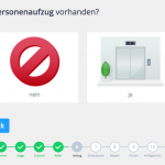 Screenshot: Aufzug vorhanden? (Heeba-Theme)