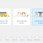Screenshot: House type selection (Heeba theme)