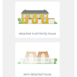 Screenshot: House type selection (responsive)