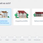 Screenshot: Auswahl des Haustyps (Ulysses-Theme)