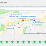 Screenshot: Auswahl des Immobilienstandorts