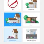 Screenshot: Auswahl der Parkmöglichkeiten (Responsive)