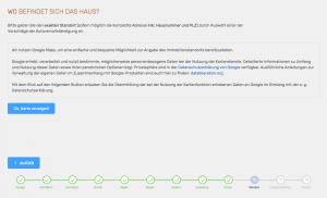 Screenshot: Bestätigung vor dem Laden der Google-Kartendienste